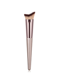 Fashion Champagne Gold Single Wooden Handle Nylon Hair Makeup Brush