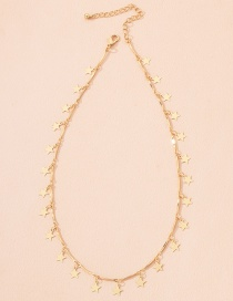 Fashion Stars-2 Five-pointed Star Pendant Smiley Alloy Necklace