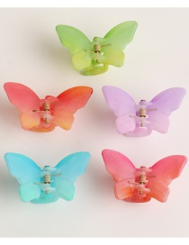 Fashion Color Mixing Butterfly Resin Hit Color Catch Clip