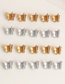 Fashion Gold And Silver Butterfly Resin Alloy Gripping Set