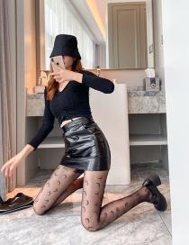 Fashion Moon-black Silk Moon Hollow Black Silk Fishnet Socks
