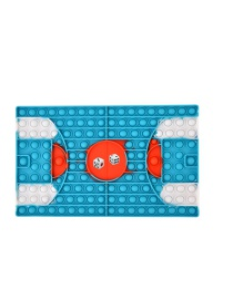 Fashion Basketball Blue And White Basketball Court Chessboard Decompression Pressing Toy