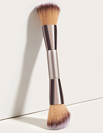 Fashion Champagne Gold Single Double-headed Champagne Gold Loose Powder Brush