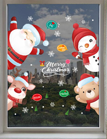 Fashion 9325-6090cm Into The Bag Packaging Christmas Double-sided Visible Wall Stickers