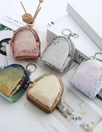 Fashion Backpacks Are Mixed Sequined Earphone Lipstick Storage Coin Purse