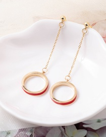 Fashion Earring Dripping Crystal Round Necklace Long Tassel Ring Earrings