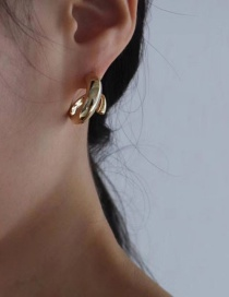 Fashion Golden Geometric Alloy Earrings
