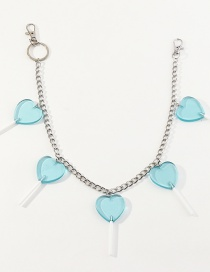 Fashion Blue Love Lollipop Resin Alloy Waist Chain