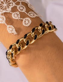 Fashion Golden Thick Chain Dripping Alloy Hollow Bracelet