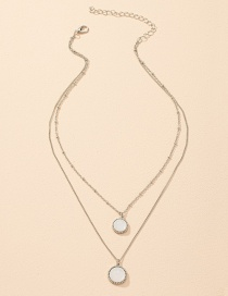 Fashion Silver Color Geometric Round Alloy Double Necklace