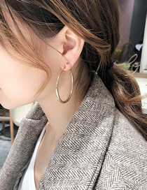 Fashion Silver Spiral Circle Alloy Hollow Earrings