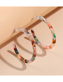 Fashion Color Acetate Acrylic Plate C Type Earrings