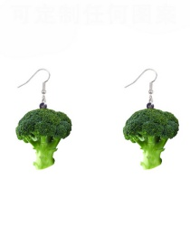 Fashion Cauliflower Broccoli Vegetable Acrylic Earrings