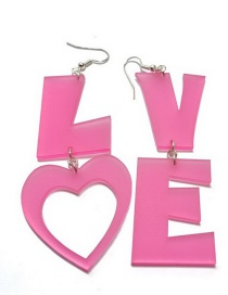 Fashion Love Letter Love Acrylic Earrings
