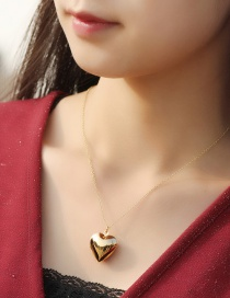 Fashion Kc Gold Love Glossy Copper Gold-plated Openable Necklace