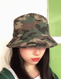 Fashion Canvas Camouflage Double-sided Camouflage Sunscreen Fisherman Hat