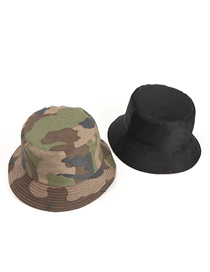Fashion Polycotton Green Camouflage Double-sided Camouflage Sunscreen Fisherman Hat