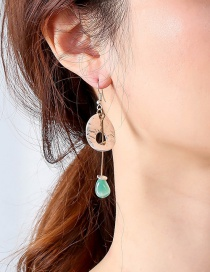 Fashion White Natural Stone Alloy Geometric Earrings