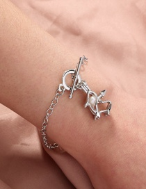 Fashion Silver Color Natural Freshwater Oyster Pearl Petrel Cage Bracelet