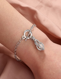 Fashion Silver Color Natural Freshwater Oyster Pearl Peanut Cage Bracelet