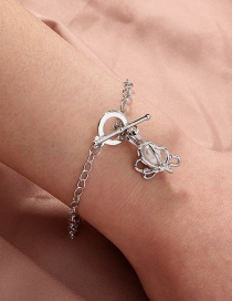 Fashion Silver Color Butterfly Natural Freshwater Oyster Pearl Bracelet