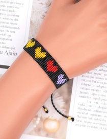 Fashion Color Mixing Love Beaded Hand-woven Rice Bead Bracelet