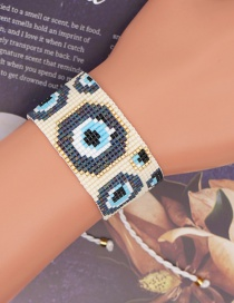 Fashion Eye Eye Beaded Hand-woven Rice Bead Bracelet