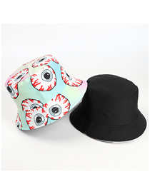 Fashion Printing Big Eyes Printed Double-sided Fisherman Hat