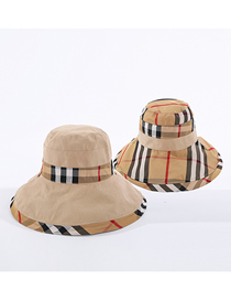 Fashion Beige Babago Color Matching Double-sided Fisherman Hat