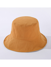 Fashion Khaki Double-sided Solid Color Cotton Sunshade Fisherman Hat