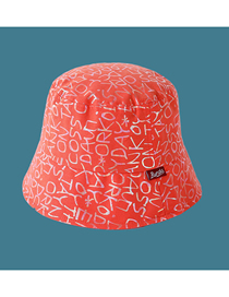 Fashion Orange Letter Cloth Logo Printed Fisherman Hat