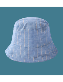 Fashion Light Blue Striped Visor Fisherman Hat