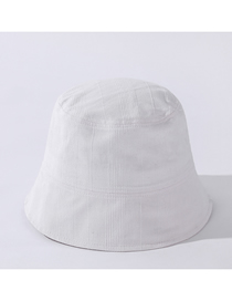 Fashion Yabai Breathable Sunshade Three-dimensional Striped Solid Color Cotton Bucket Hat