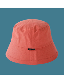 Fashion Orange Solid Color Letter Cloth Logo Fisherman Hat