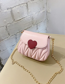 Fashion Pink Folded Chain Childrens Crossbody Shoulder Bag