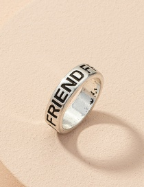 Fashion Ring Letter Alloy Wide Brim Ring