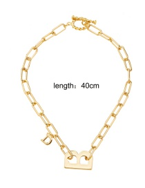 Fashion Necklace Thick Chain Letter Necklace Bracelet Earrings