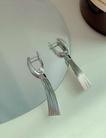 Fashion Sector Silver Circle Geometry Irregular Alloy Earrings