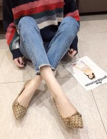 Fashion Blue Stiletto Pointed Rivet High Heels