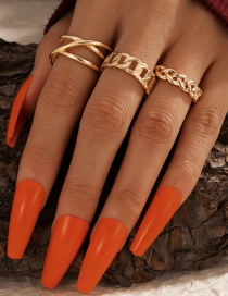 Fashion Golden Hollow Twist Cross Ring 3-piece Set
