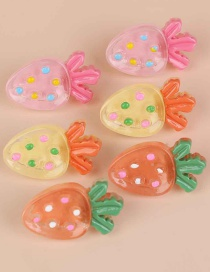 Fashion Strawberry Fruit Strawberry Mixed Color Resin Earring Set