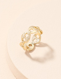 Fashion Golden Chain Alloy Hollow Ring