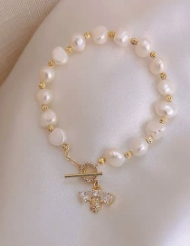 Fashion Bee Freshwater Pearl Micro-inlaid Zircon Bee Bracelet