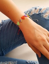 Fashion Color Mixing Love Beaded Rice Beads Hand-woven Bracelet