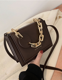 Fashion Coffee Color Chain Stitching Crossbody Shoulder Bag