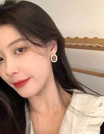 Fashion Golden Flower Pearl Alloy Geometric Earrings