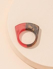 Fashion Contrast Ring Contrasting Acrylic Geometric Ring