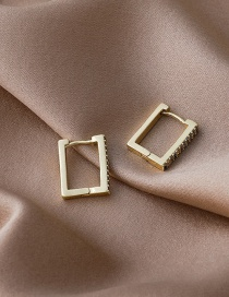 Fashion Gold Color Square Gold-plated Copper Geometric Earrings