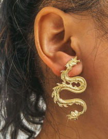 Fashion Gold Color Alloy Turion Earrings