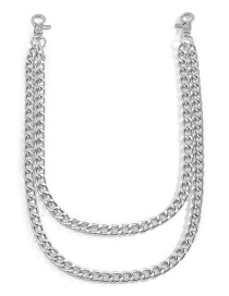 Fashion White K Geometric Chain Alloy Double Waist Chain